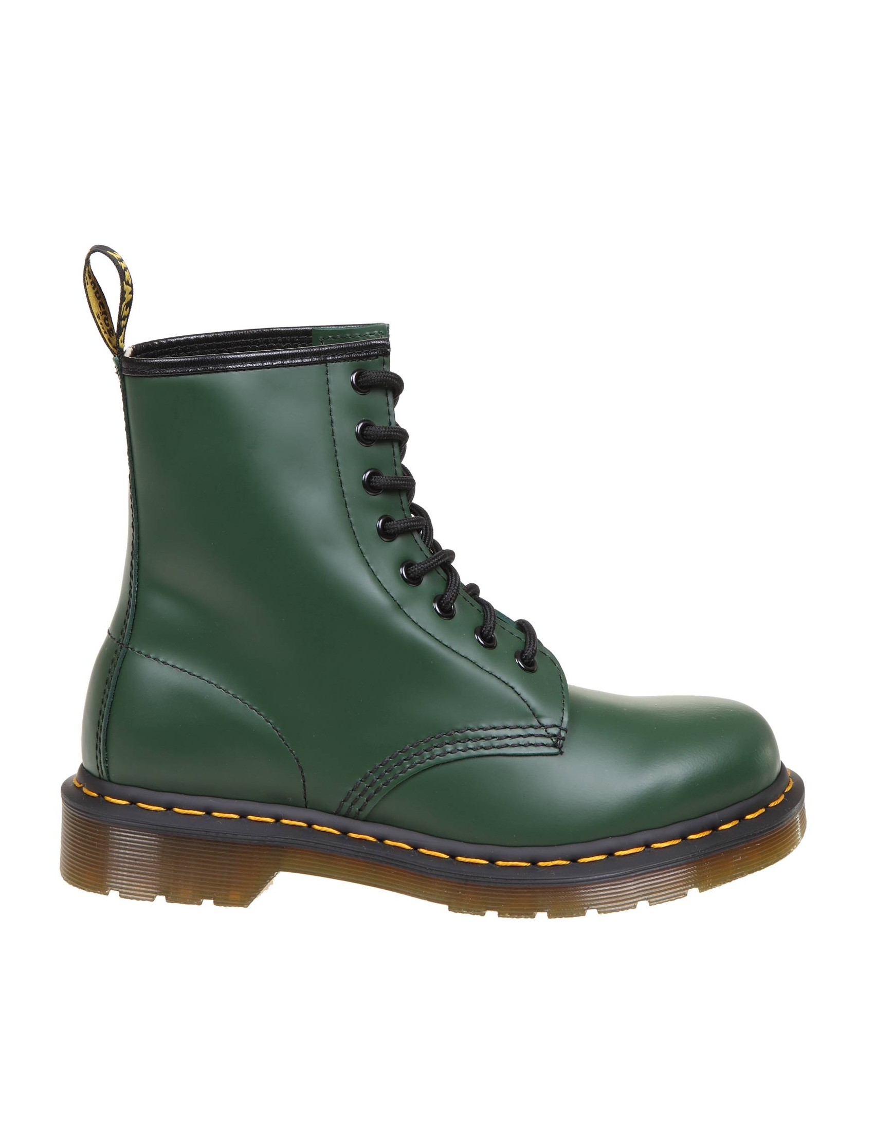 Dr. Martens DR. MARTENS SMOOTH BOOTS IN GREEN LEATHER