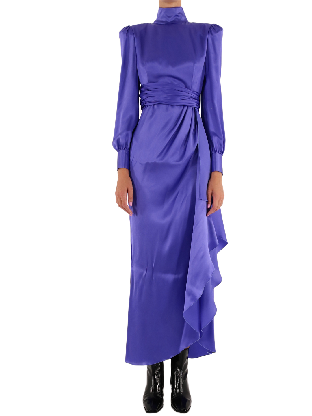 Silk dress purple