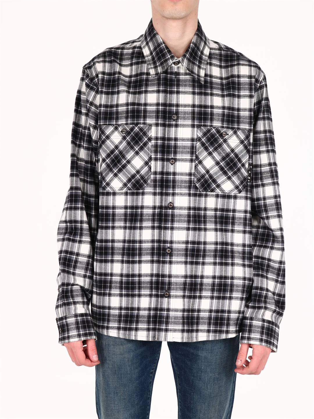 Off-White CHECK COTTON SHIRT