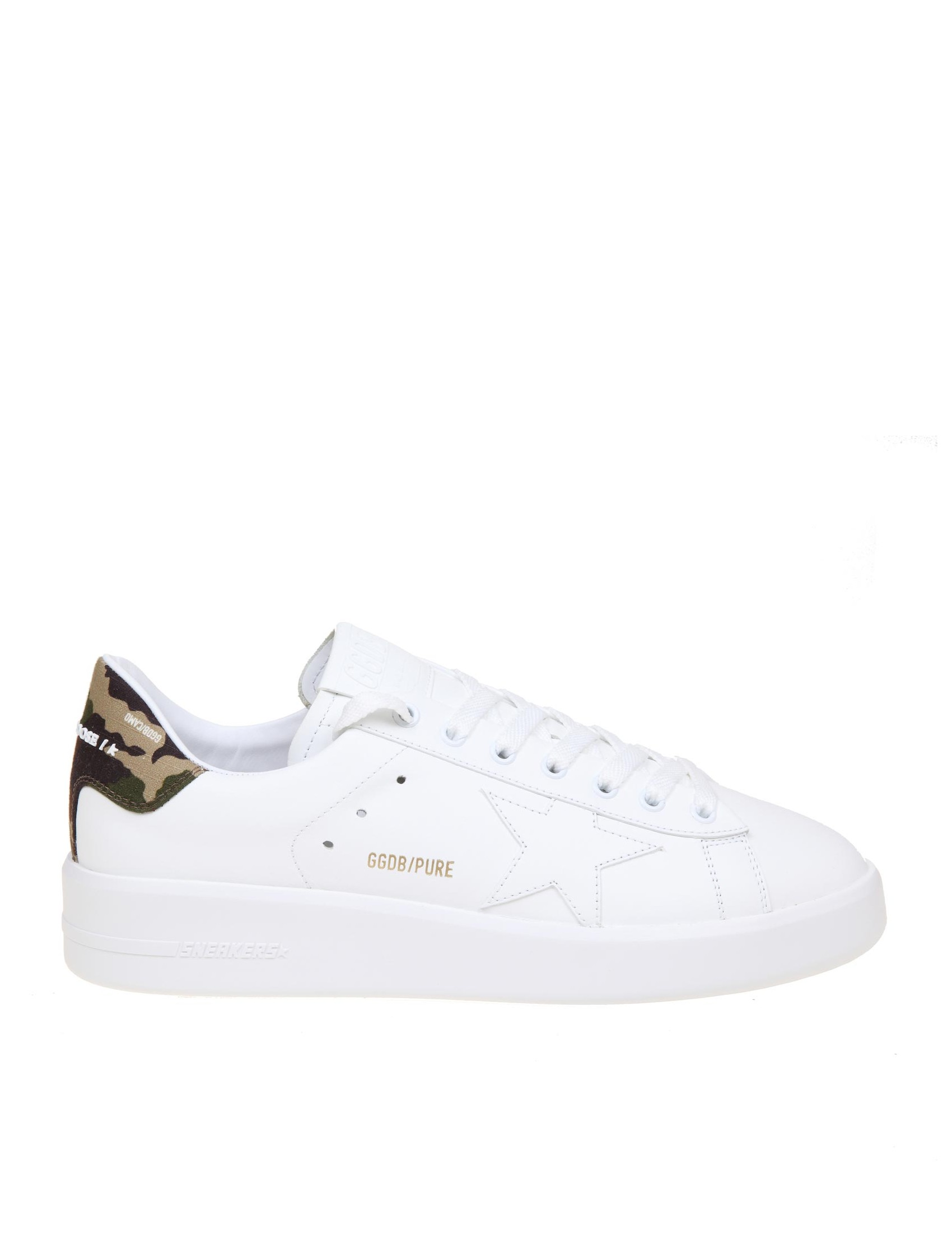 GOLDEN GOOSE GOLDEN GOOSE PURE STAR SNEAKERS IN LEATHER