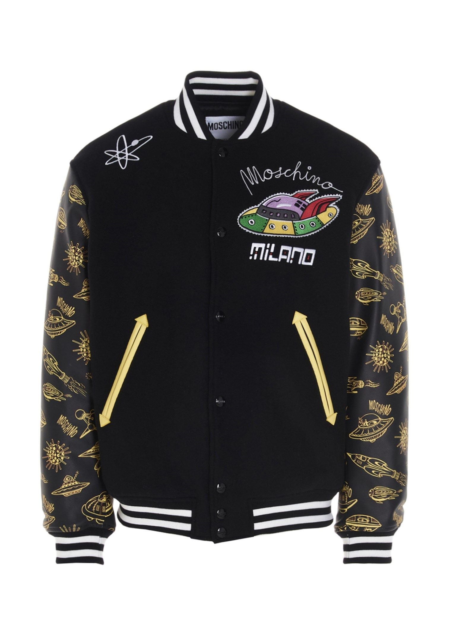 Moschino MOSCHINO MEN'S A061520101555 BLACK OTHER MATERIALS OUTERWEAR JACKET