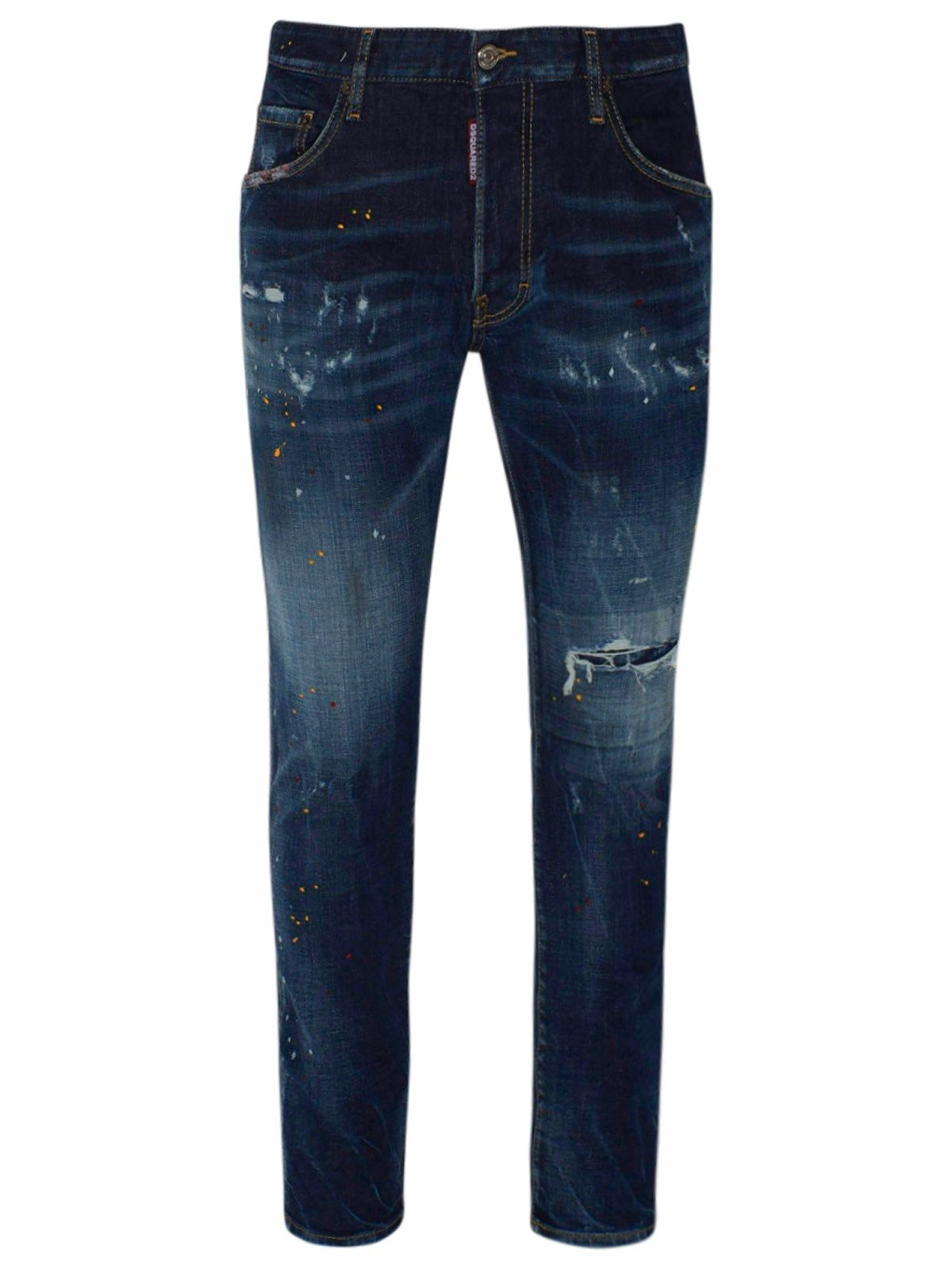 Dsquared2 DSQUARED2 MEN'S S74LB0835S30664470 BLUE COTTON JEANS