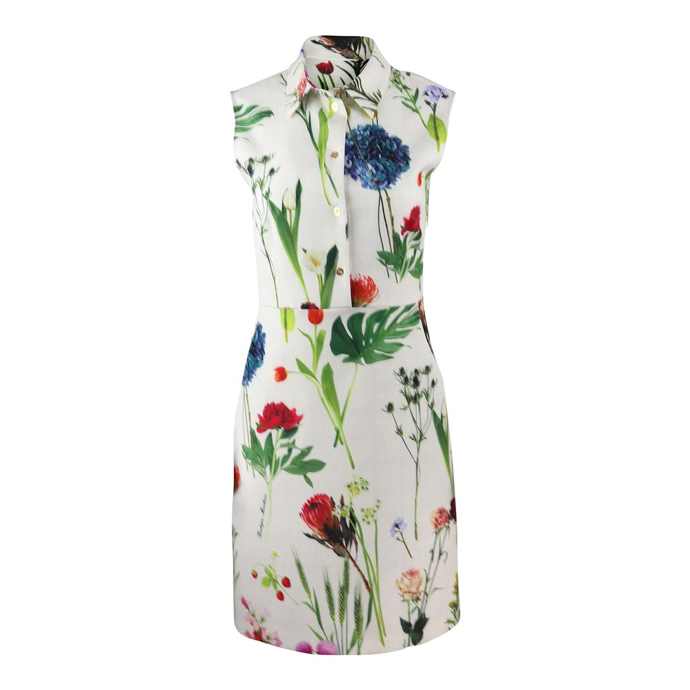 Moschino BOUTIQUE BOTANIC FLOWER PRINTED CADY DRESS