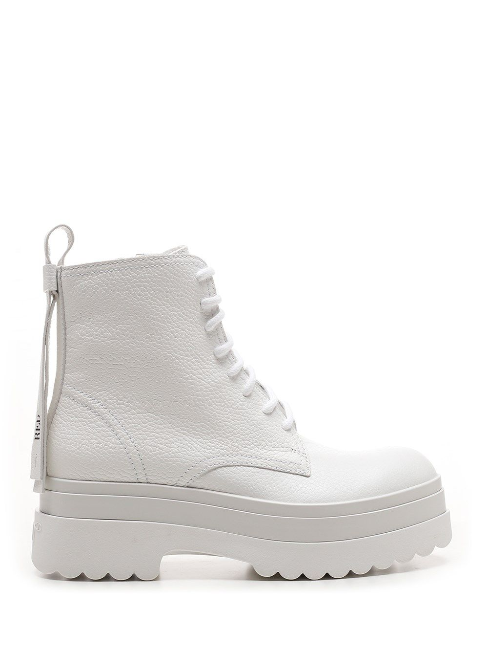 Red Valentino Mid heels RED VALENTINO WOMEN'S VQ2S0E46YDA031 WHITE OTHER MATERIALS BOOTS