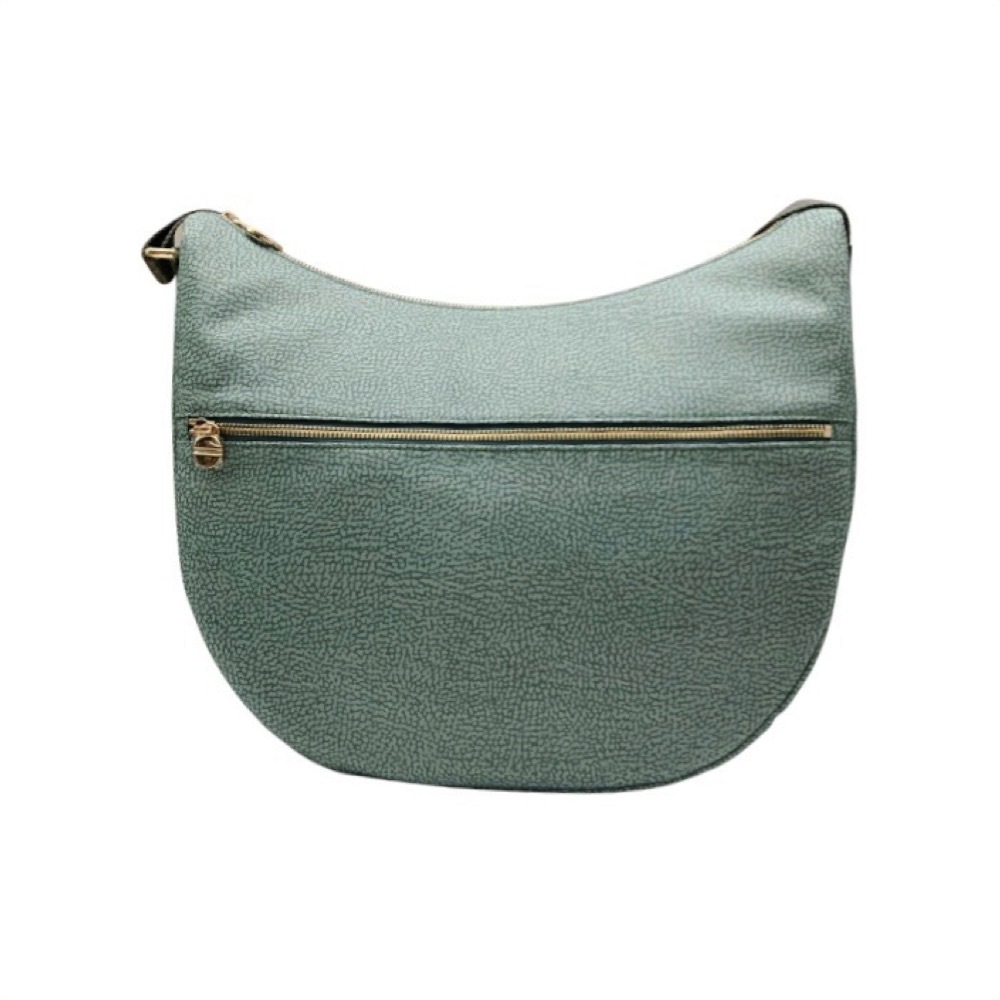 Borbonese BORBONESE - LUNA BAG MEDIUM OP RECYCLED NYLON ZIP - PASTEL GREEN