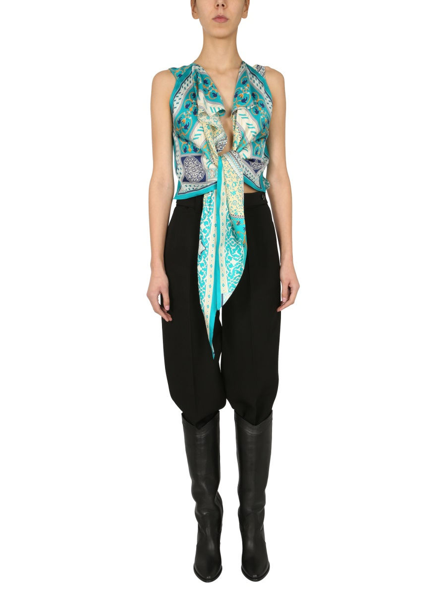 Etro Silks CROSSED PANAREA TOP