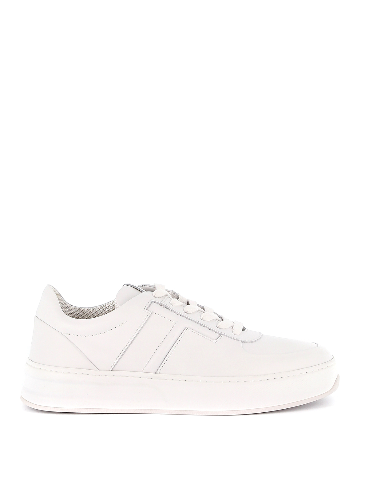 Tod's Leathers WHITE LEATHER SNEAKER