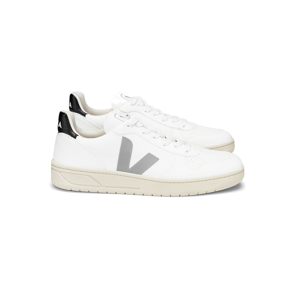 Veja VEJA V-10 CWL TRAINERS - WHITE, OXFORD GREY & BLACK