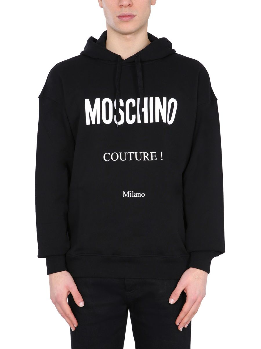 MOSCHINO MOSCHINO MEN'S 172920271555 BLACK OTHER MATERIALS SWEATSHIRT