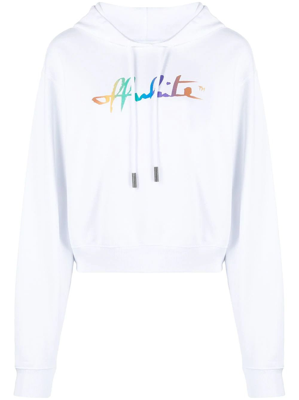 Off-White OFF-WHITE WOMEN'S OWBB016R21JER0020184 WHITE COTTON SWEATSHIRT