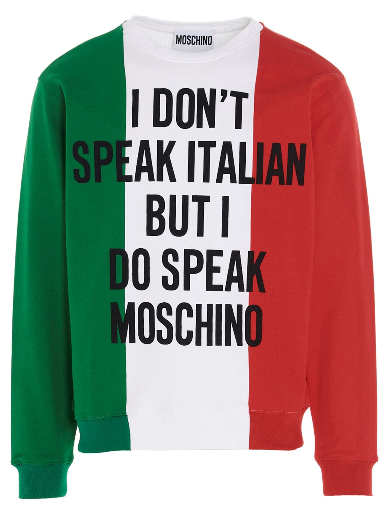 Moschino MOSCHINO MEN'S A173620271888 MULTICOLOR OTHER MATERIALS SWEATSHIRT