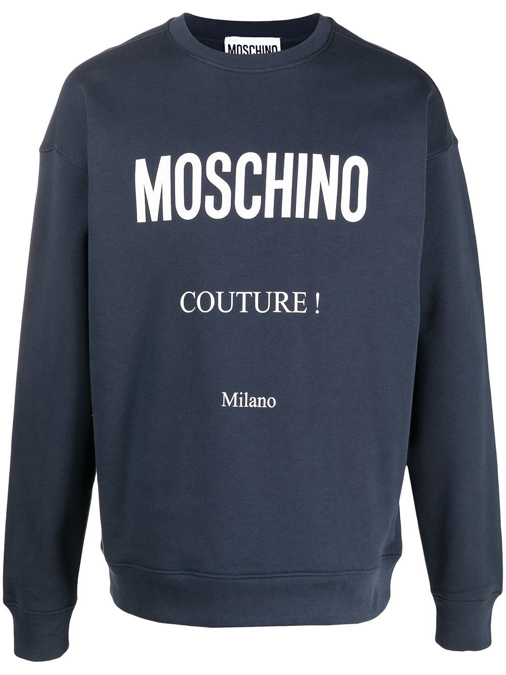 MOSCHINO MOSCHINO MEN'S A173020271290 BLUE COTTON SWEATSHIRT