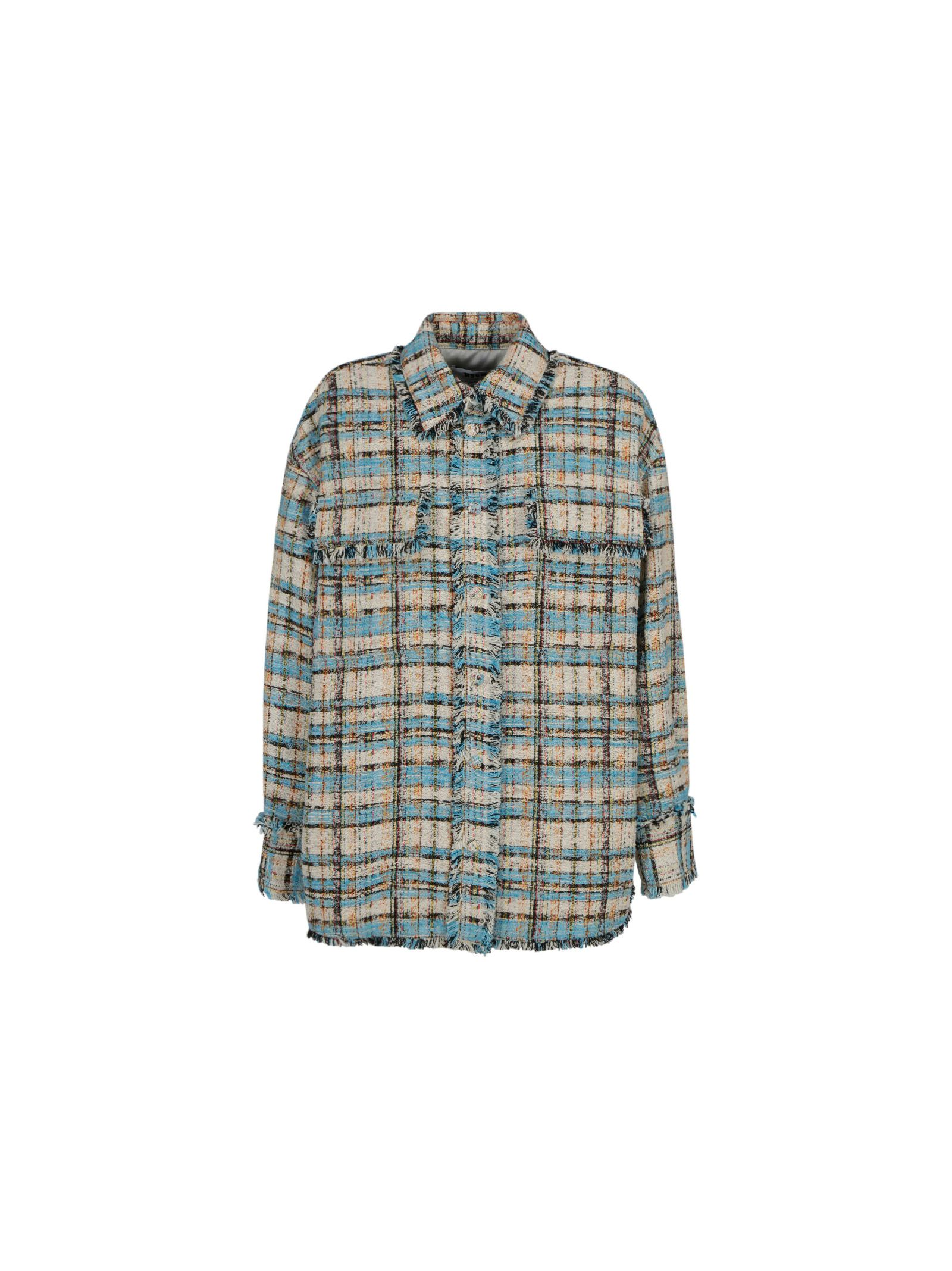 Msgm WOMEN'S 3041MDE1221710282 BLUE OTHER MATERIALS SHIRT