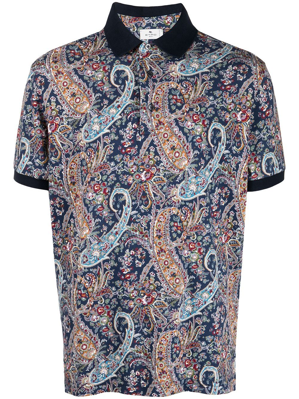 Etro ETRO MEN'S 1Y8004081200 MULTICOLOR COTTON POLO SHIRT