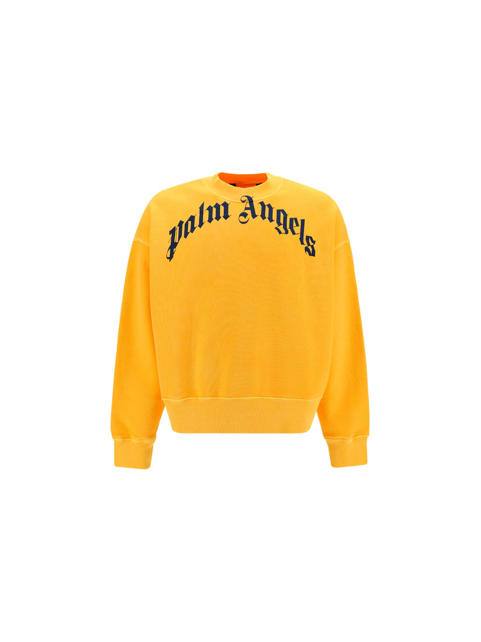 Palm Angels PALM ANGELS MEN'S PMBA026R21FLE0061846 YELLOW OTHER MATERIALS SWEATER