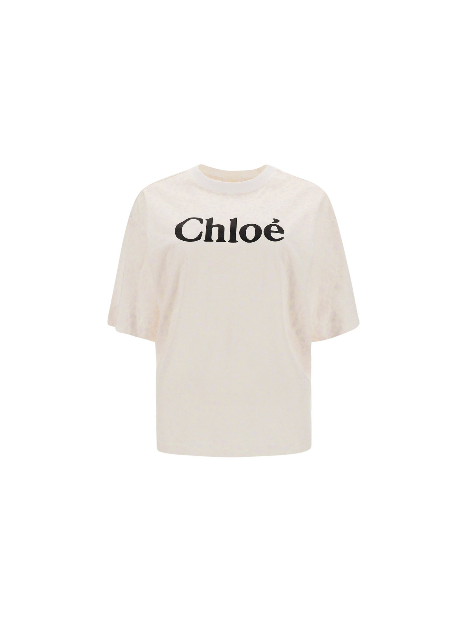 Chloé CHLO WOMEN'S CHC21SJH83183101 WHITE COTTON T-SHIRT