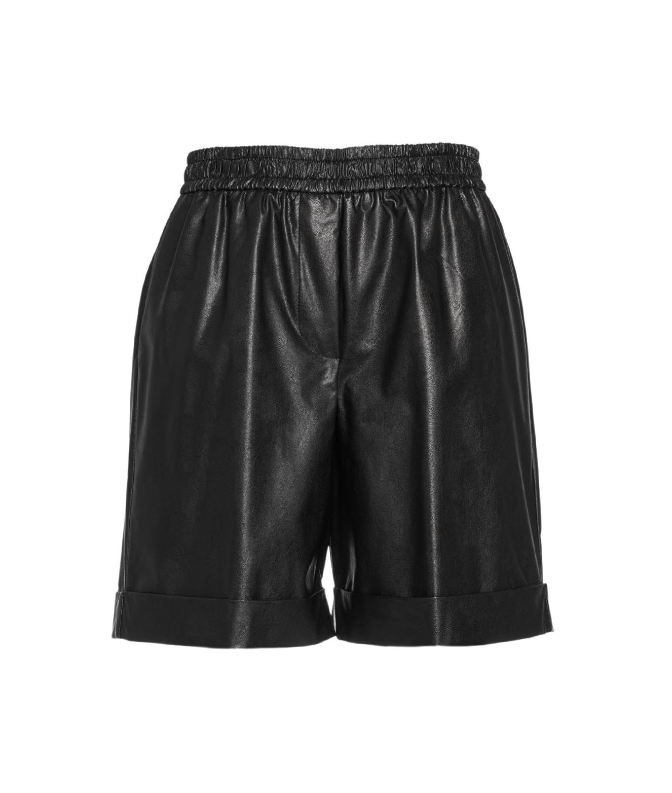 Nude SHORTS IN ECO LEATHER