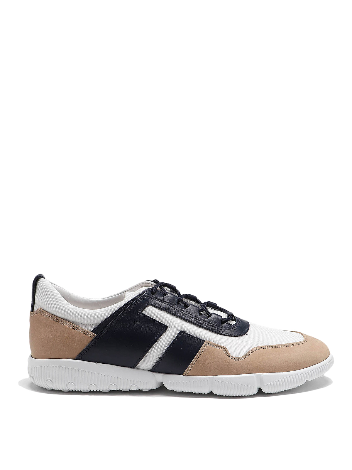 Tod's Leathers ALL COMPETITION SNEAKERS BEIGE AND BLUE