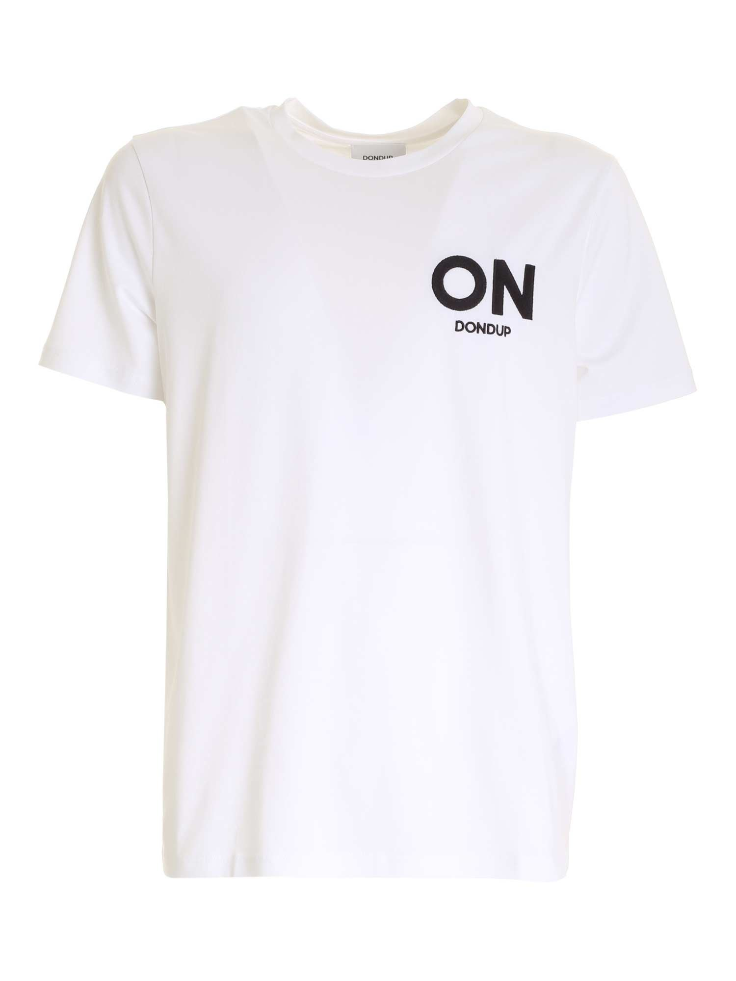 Dondup EMBROIDERY T-SHIRT IN WHITE