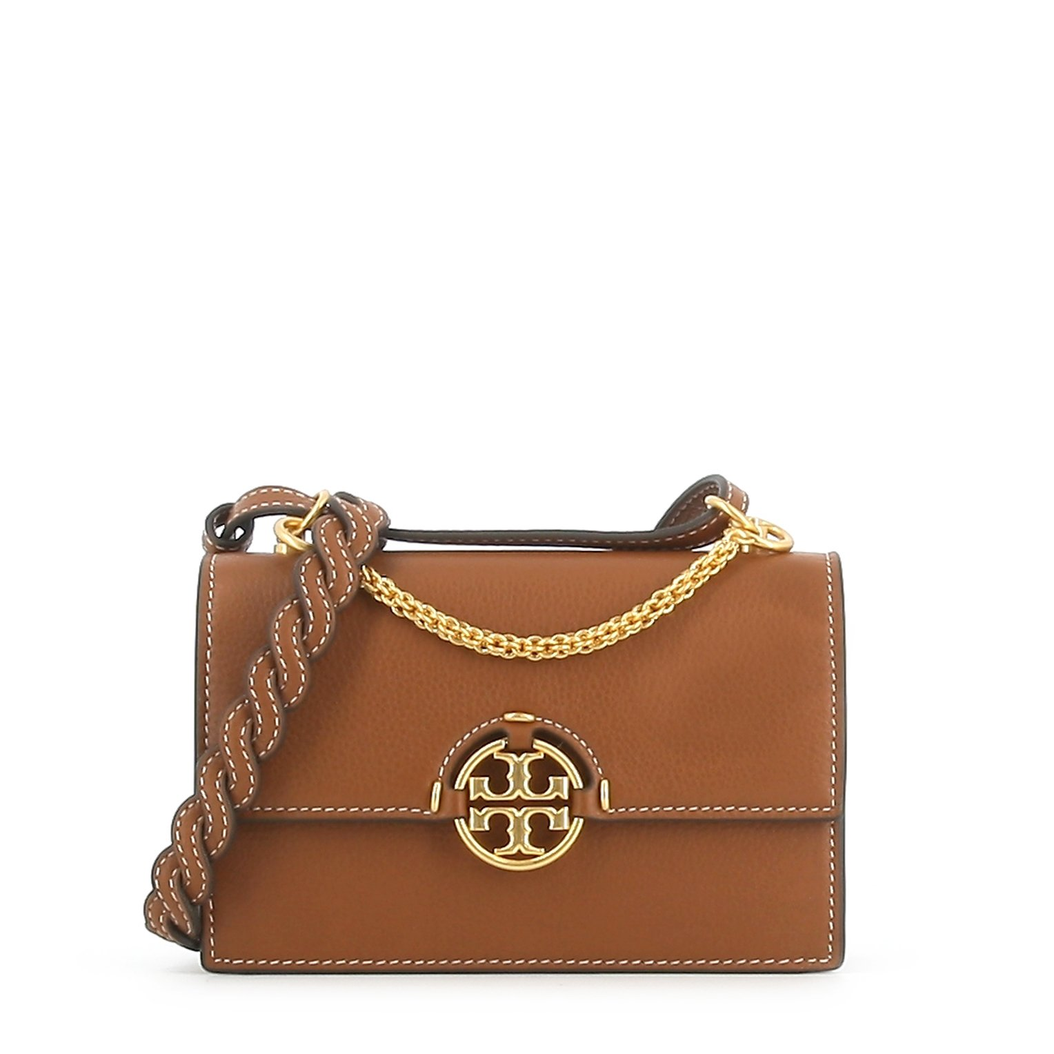 Tory Burch SHOULDER BAG WITH GOLD HANDLE