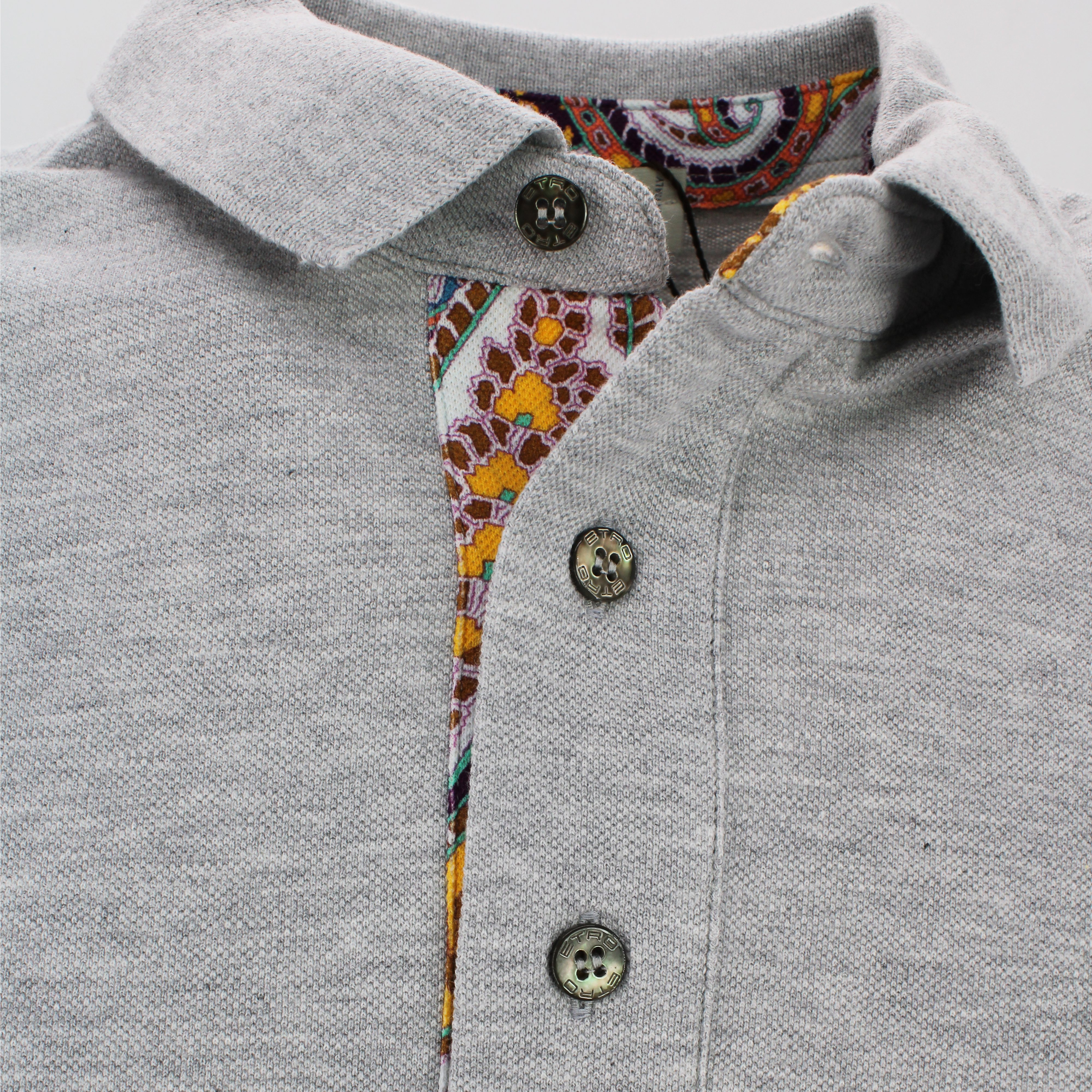 Etro Cottons EMBROIDERED POLO SHIRT