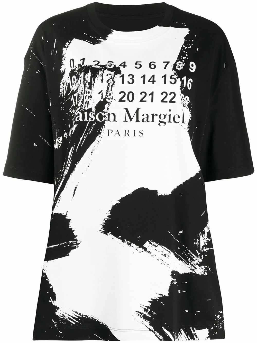 Maison Margiela MAISON MARGIELA WOMEN'S S29GC0282S22816900 BLACK COTTON T-SHIRT