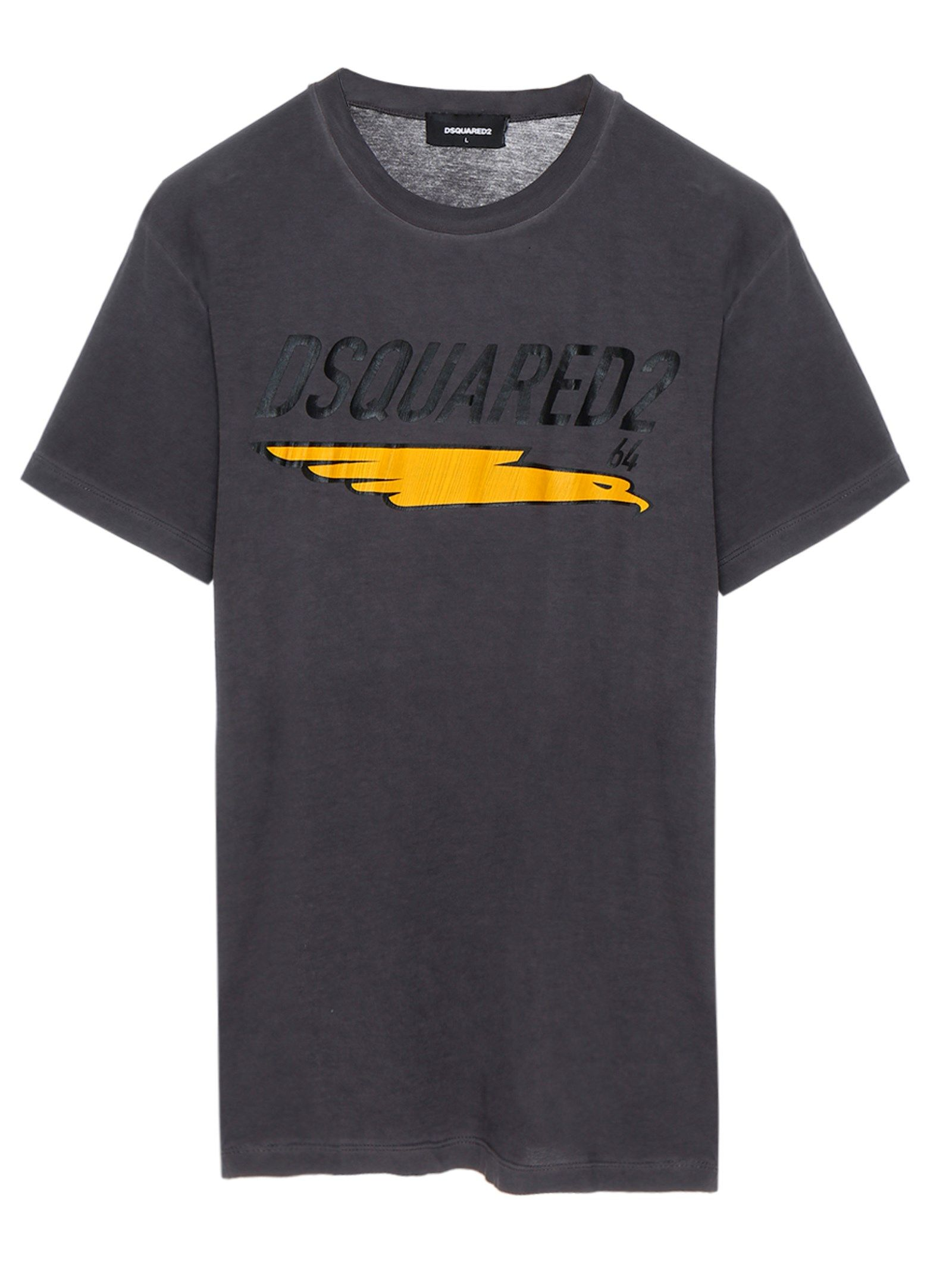 Dsquared2 DSQUARED2 MEN'S S74GD0687S21600814 GREY COTTON T-SHIRT