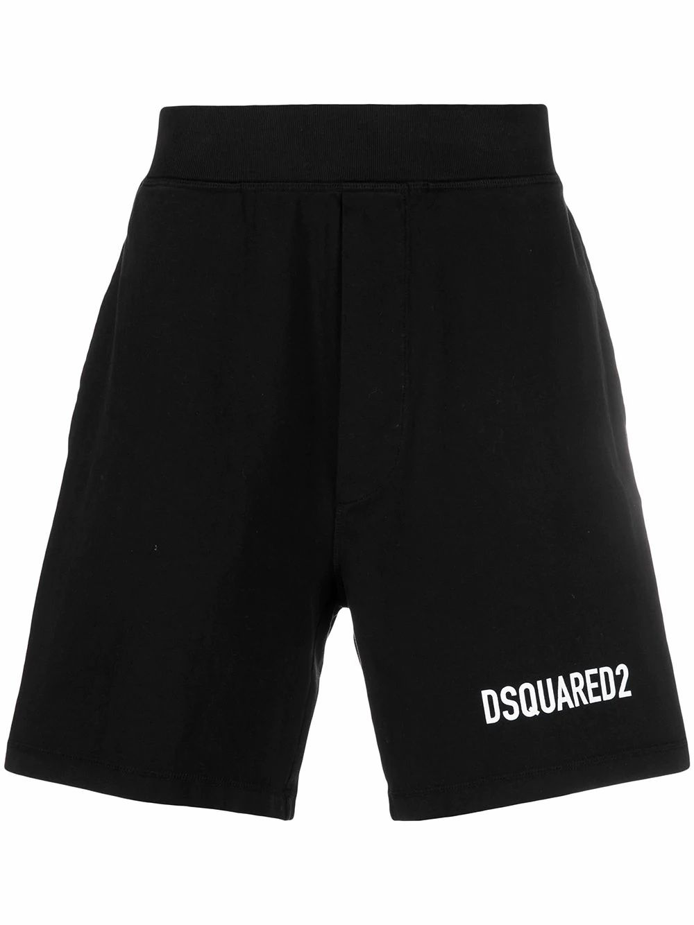 Dsquared2 DSQUARED2 MEN'S S74MU0645S23851900 BLACK COTTON SHORTS