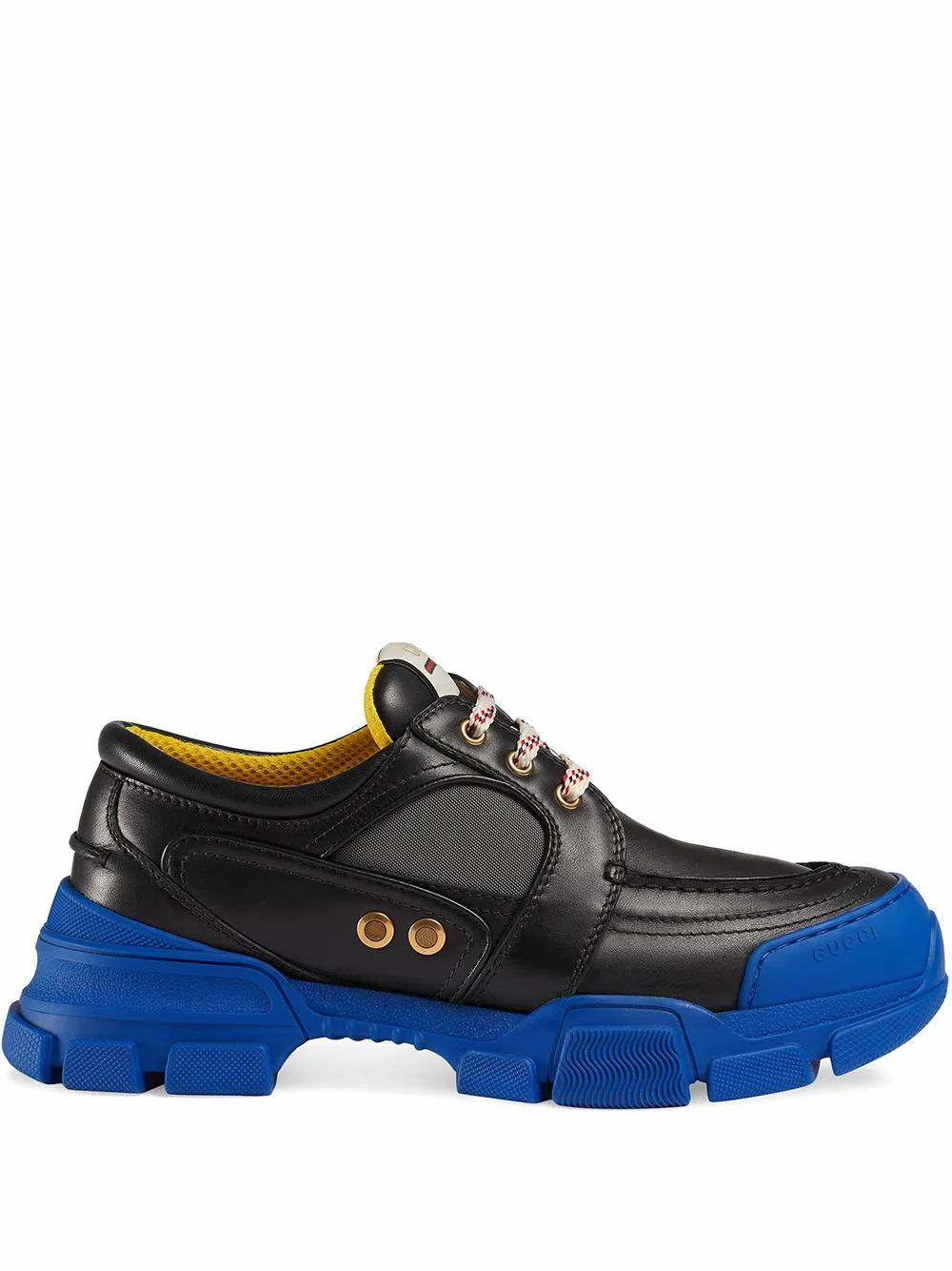 Gucci Leathers GUCCI MEN'S 5760481DZ101075 BLACK LEATHER SNEAKERS