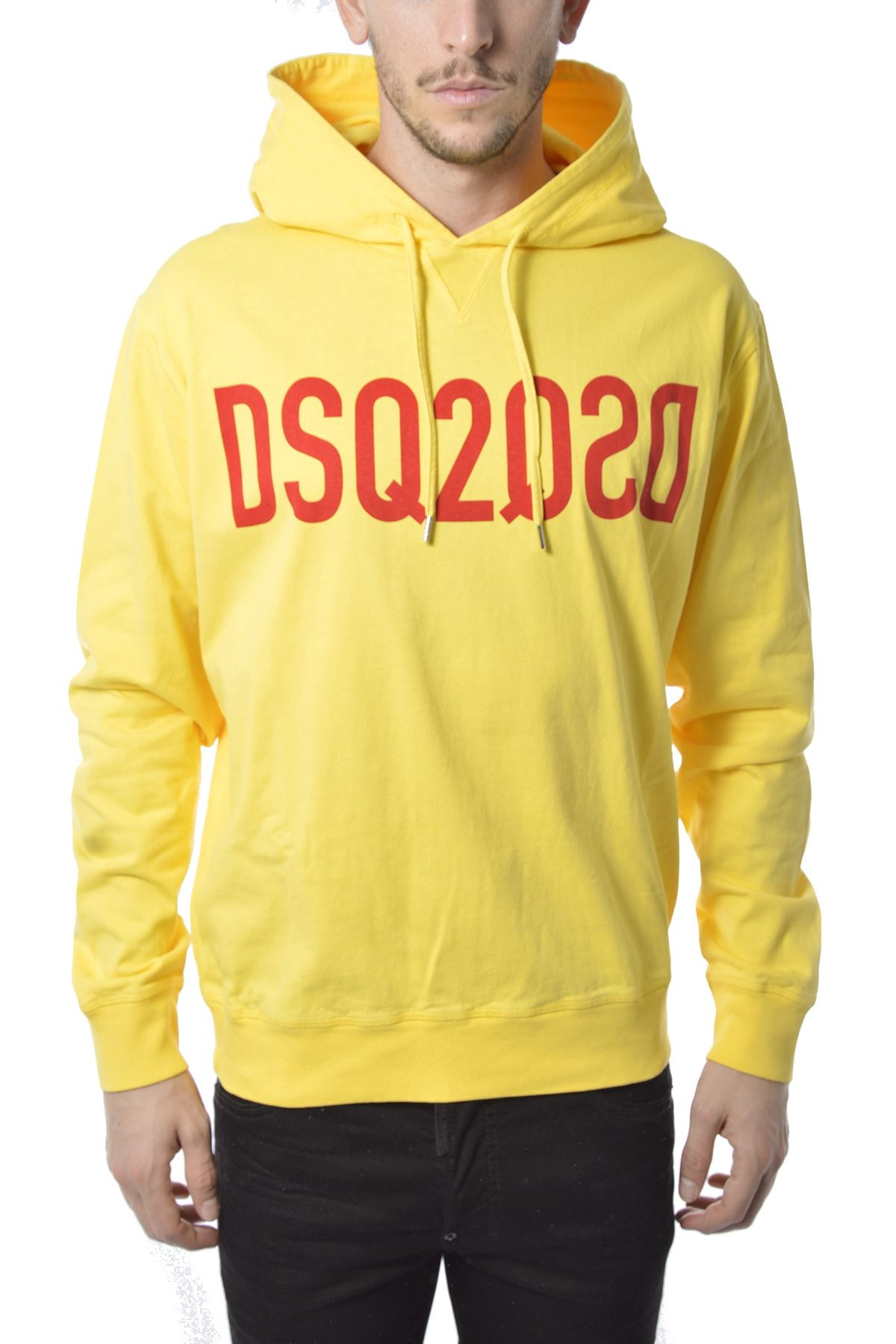 Dsquared2 DSQUARED2 MEN'S S74GU0495S23851174 YELLOW COTTON SWEATSHIRT
