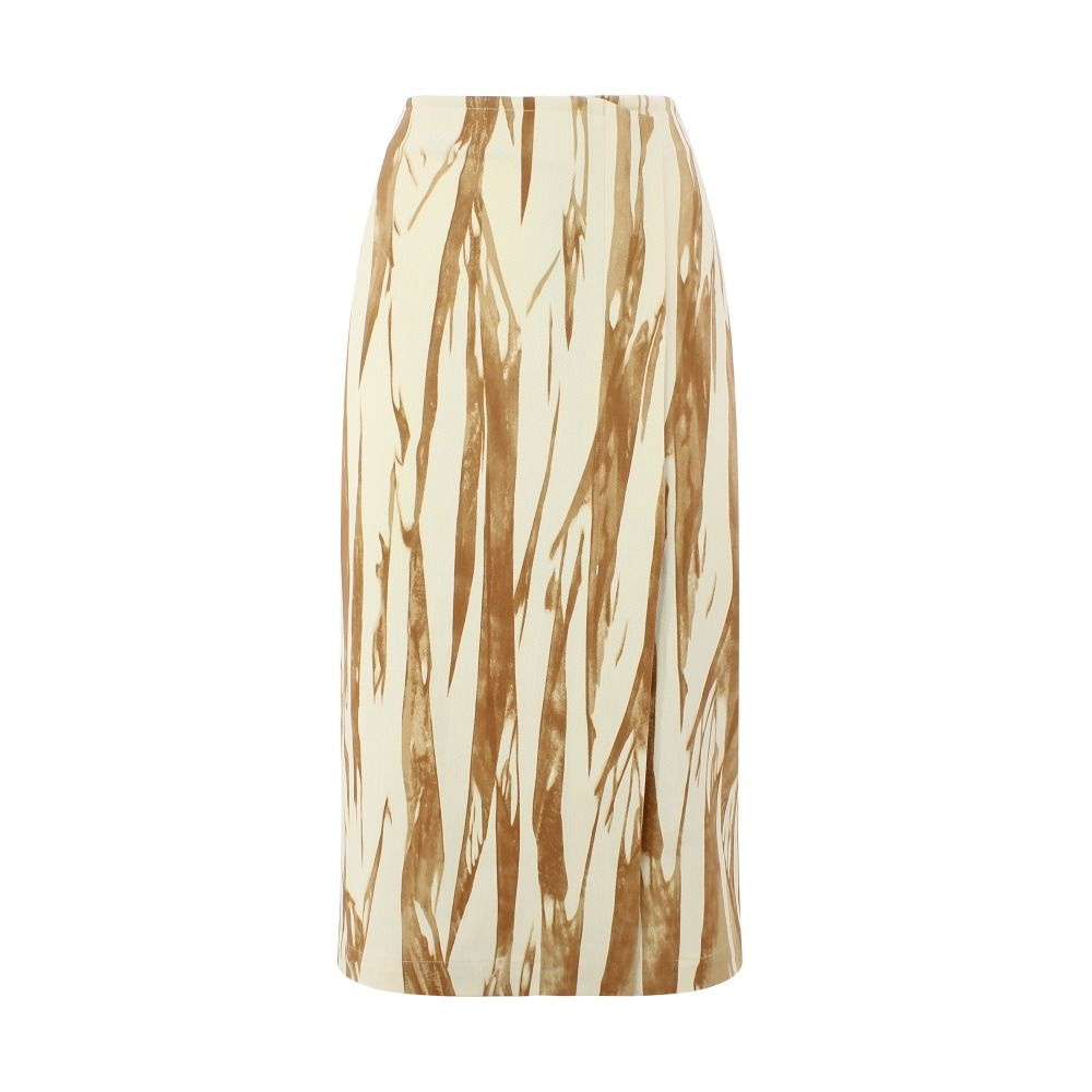 Sportmax SPORTMAX WOMEN'S DIRCE001 BEIGE COTTON SKIRT
