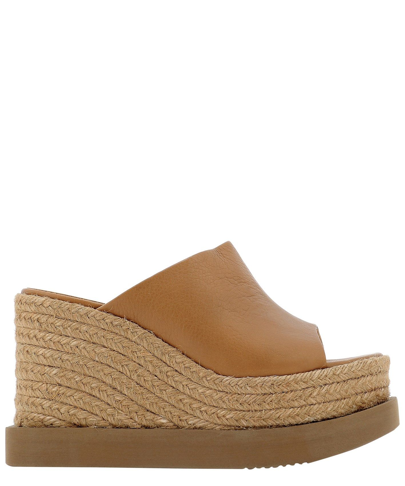 Paloma Barceló PALOMA BARCEL WOMEN'S CARCARANANAPASOFTCUOIO BROWN LEATHER WEDGES