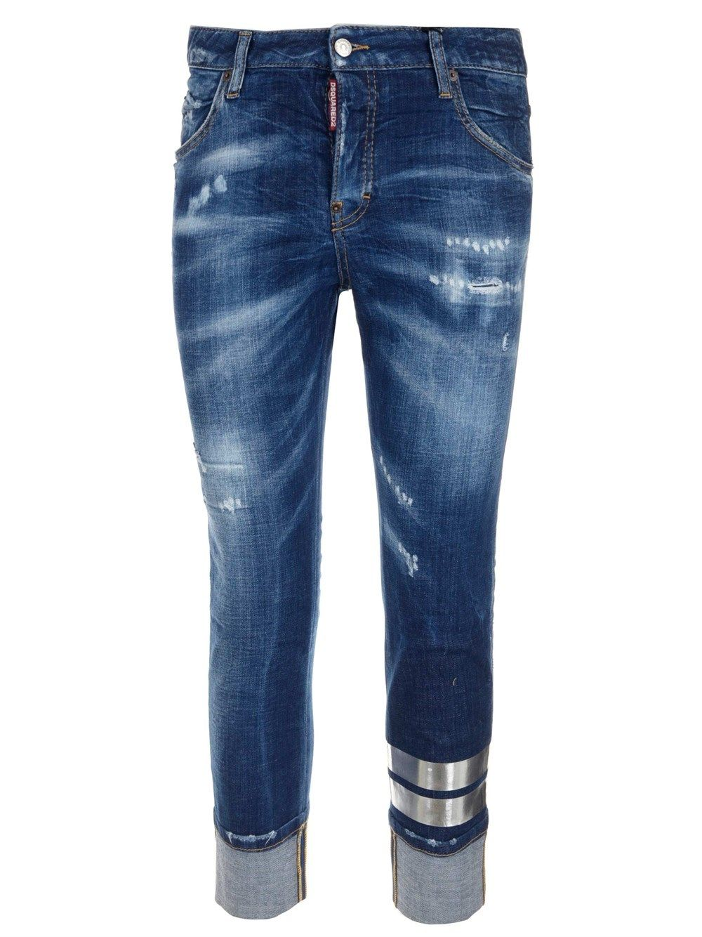 Dsquared2 Jeans DSQUARED2 WOMEN'S S75LB0457S30342470 BLUE OTHER MATERIALS JEANS