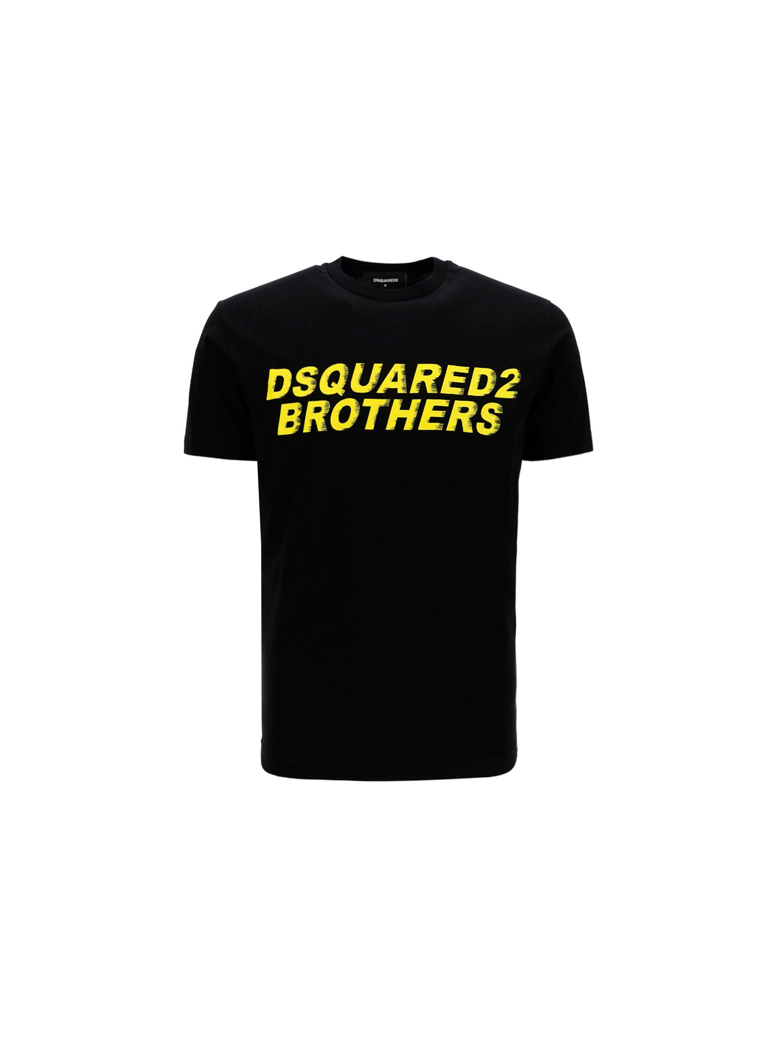 Dsquared2 DSQUARED2 MEN'S S74GD0825S22427900 BLACK OTHER MATERIALS T-SHIRT