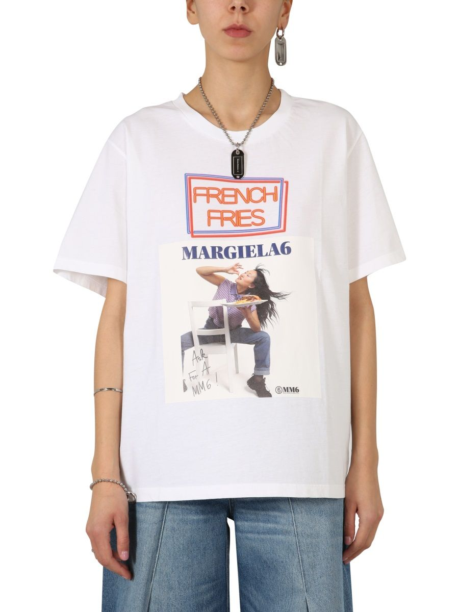 Maison Margiela MAISON MARGIELA WOMEN'S S52GC0191S23588100 WHITE OTHER MATERIALS T-SHIRT