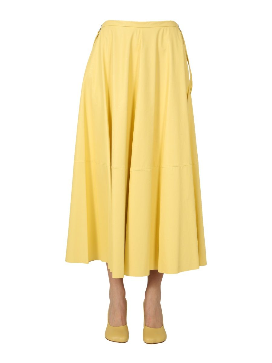 Maison Margiela MAISON MARGIELA WOMEN'S S52MA0129S53057170 YELLOW OTHER MATERIALS SKIRT