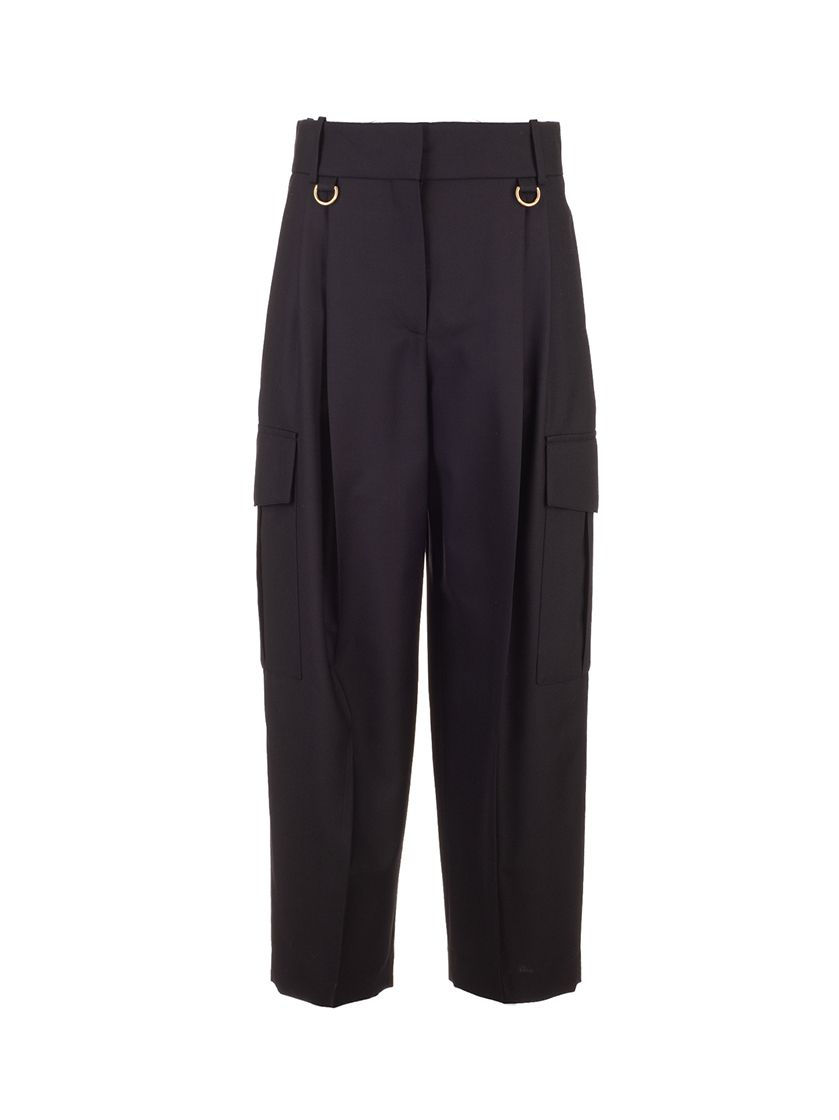 Givenchy GIVENCHY WOMEN'S BW50NA12JF001 BLACK OTHER MATERIALS PANTS