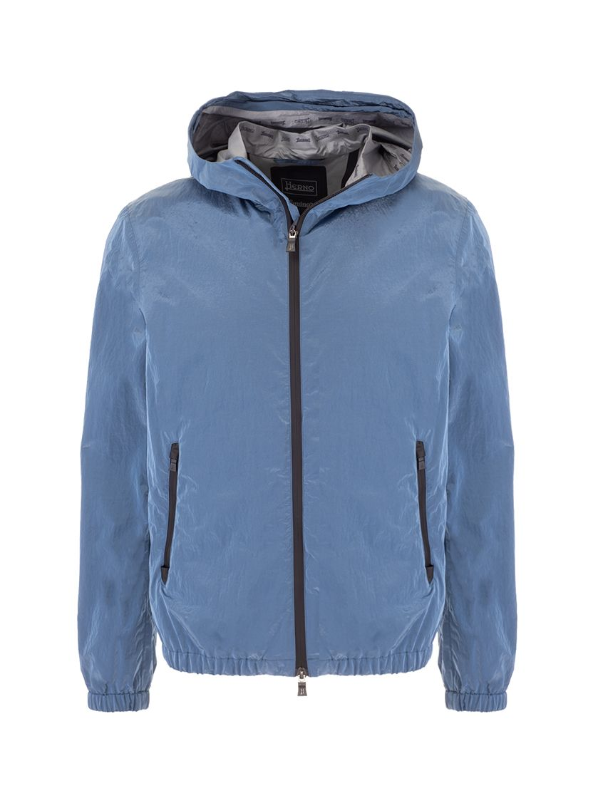 Herno HERNO MEN'S GI070UL123789002 LIGHT BLUE OTHER MATERIALS OUTERWEAR JACKET