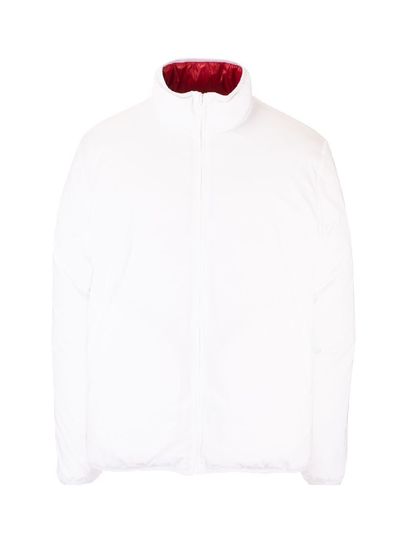 Thom Browne Downs THOM BROWNE MEN'S MJD084X07259100 WHITE OTHER MATERIALS DOWN JACKET