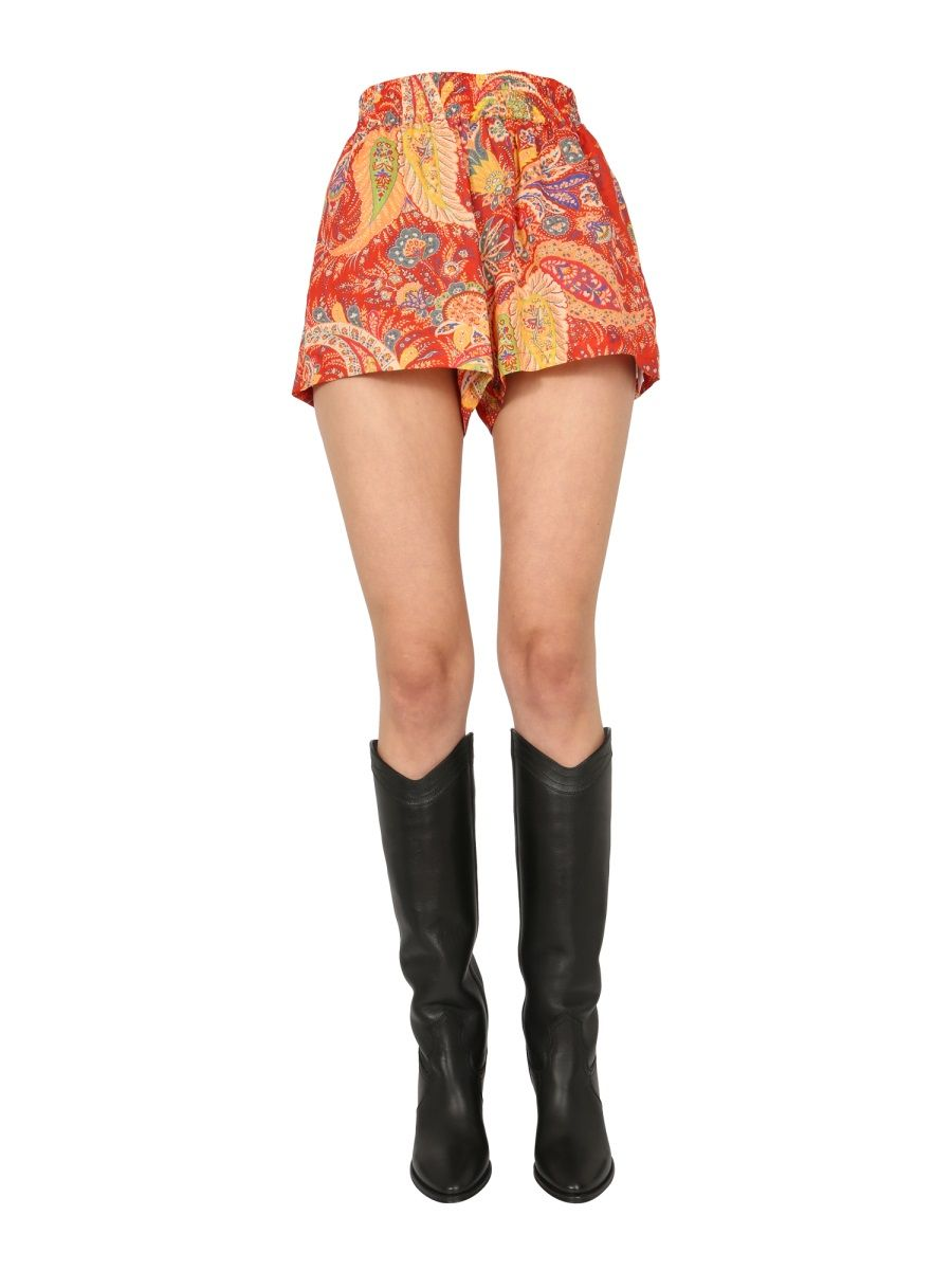 Etro ETRO WOMEN'S 1461654570600 RED OTHER MATERIALS SHORTS