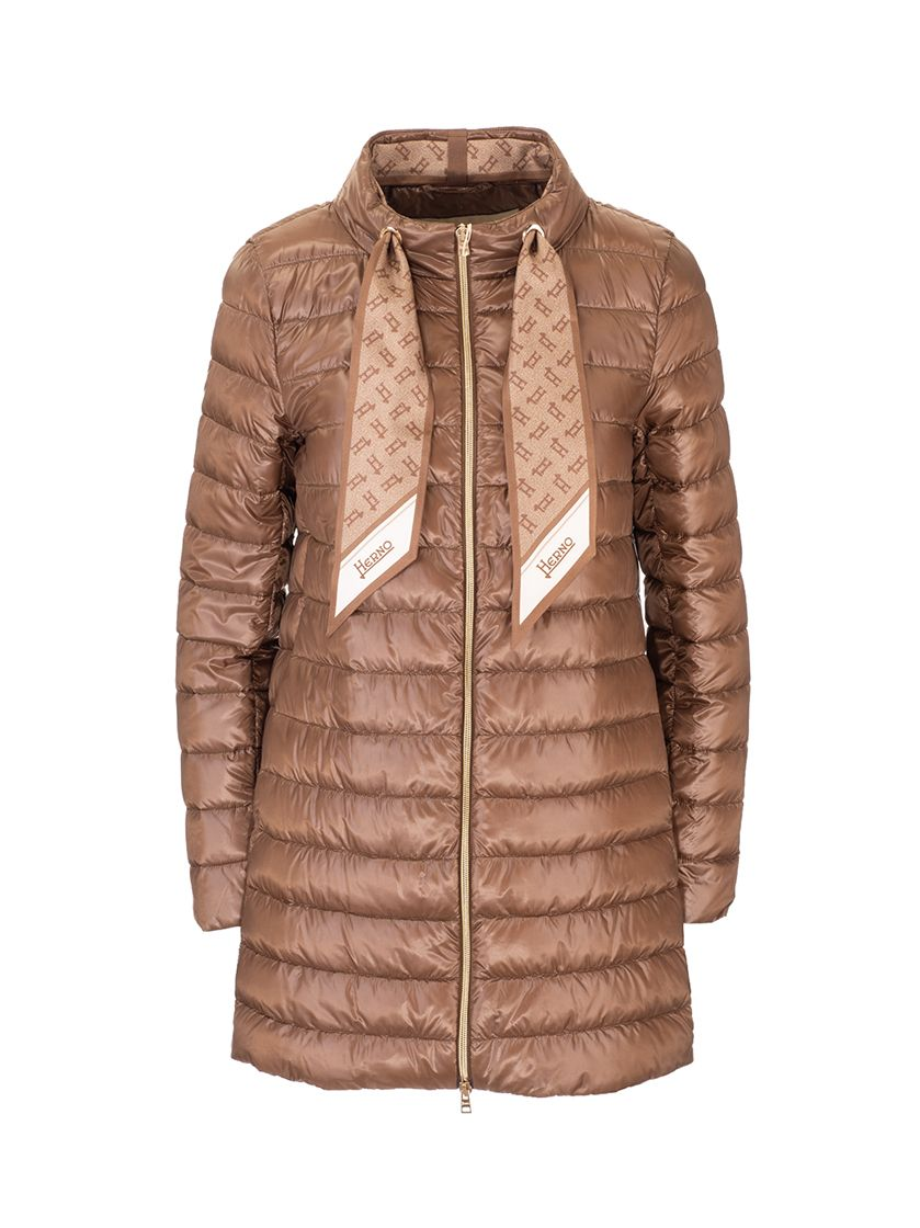 Herno HERNO WOMEN'S PI1267D120178160 BROWN OTHER MATERIALS OUTERWEAR JACKET
