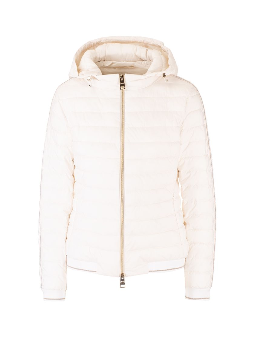 Herno HERNO WOMEN'S PC0071D192881008 WHITE OTHER MATERIALS OUTERWEAR JACKET