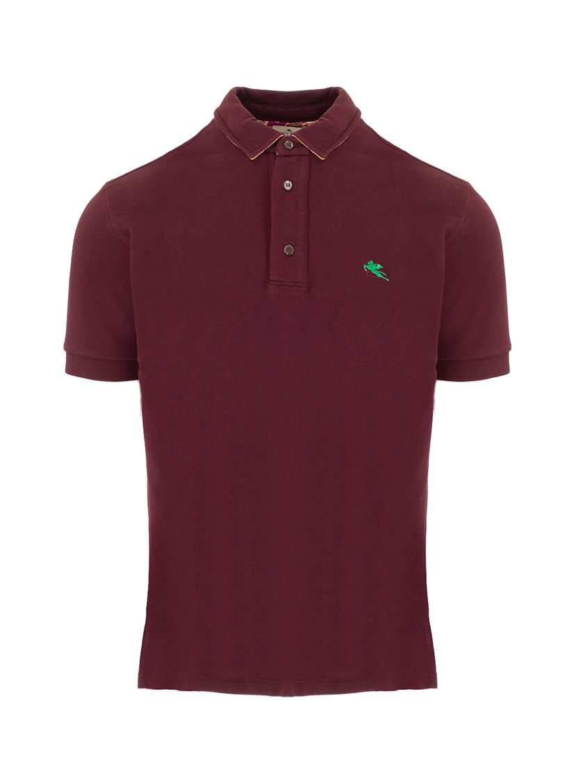 Etro Shirts ETRO MEN'S 1Y14198700300 BURGUNDY OTHER MATERIALS POLO SHIRT