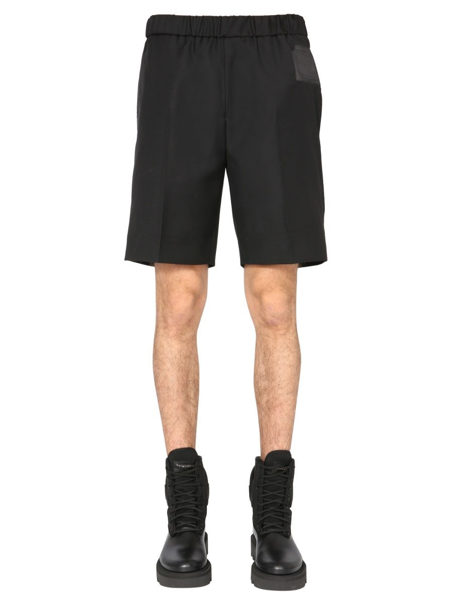 Givenchy GIVENCHY MEN'S BM50RJ1Y8K001 BLACK OTHER MATERIALS SHORTS