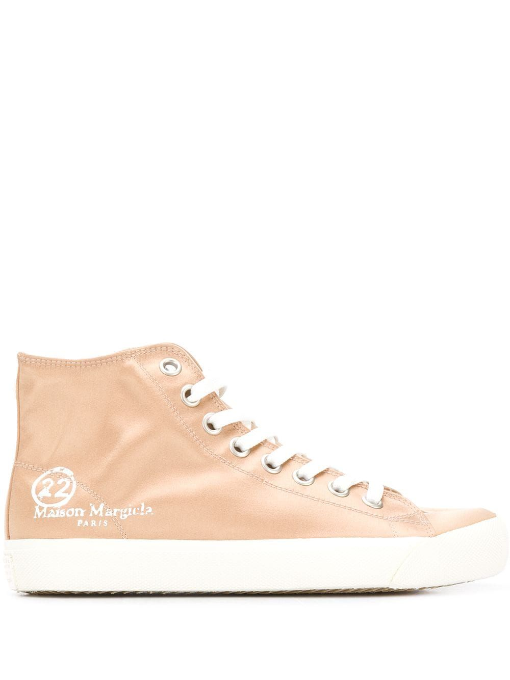 Maison Margiela MAISON MARGIELA WOMEN'S S58WS0111PR189T4091 PINK LEATHER HI TOP SNEAKERS