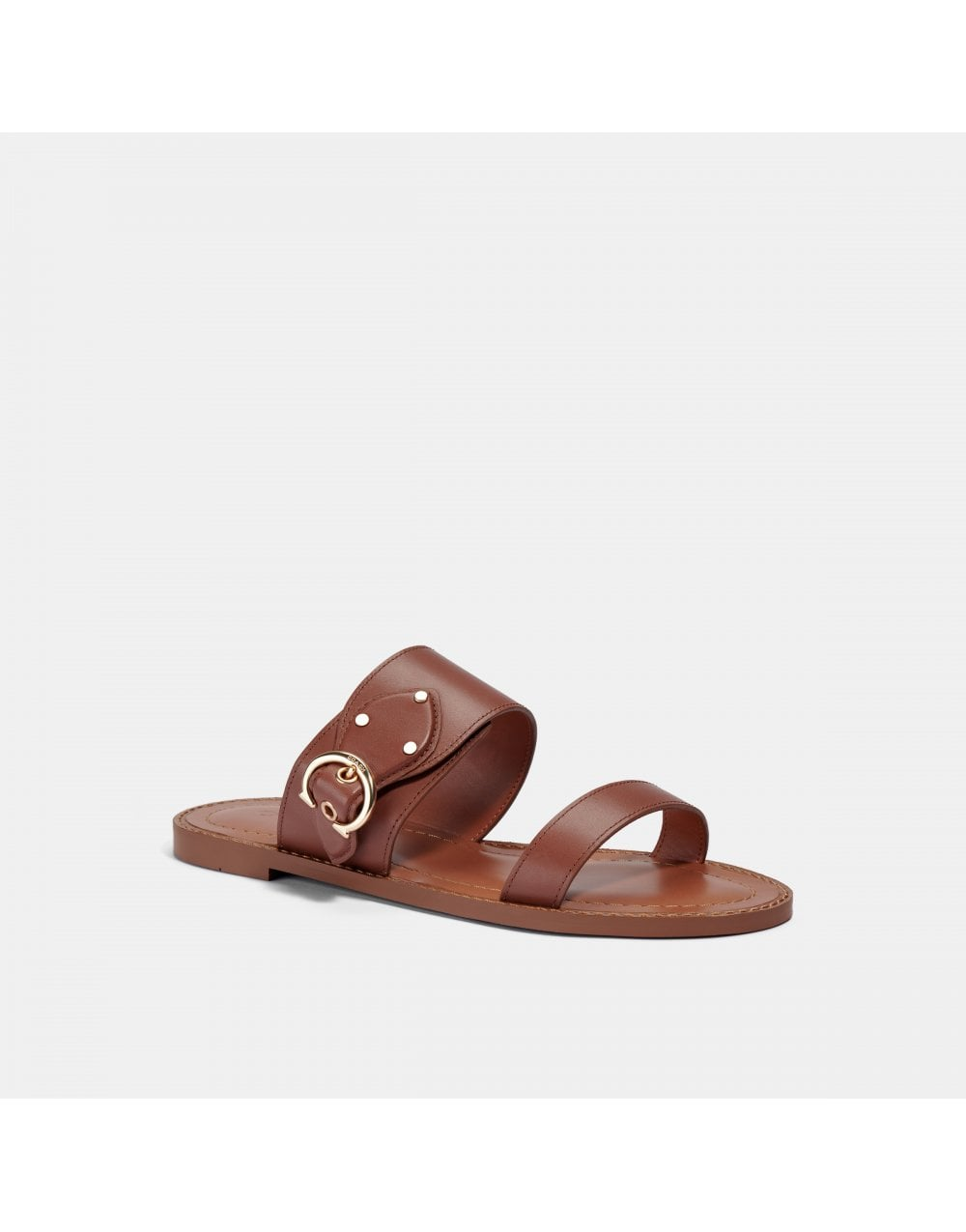Coach HARLOW LEATHER BUCKLE SANDAL