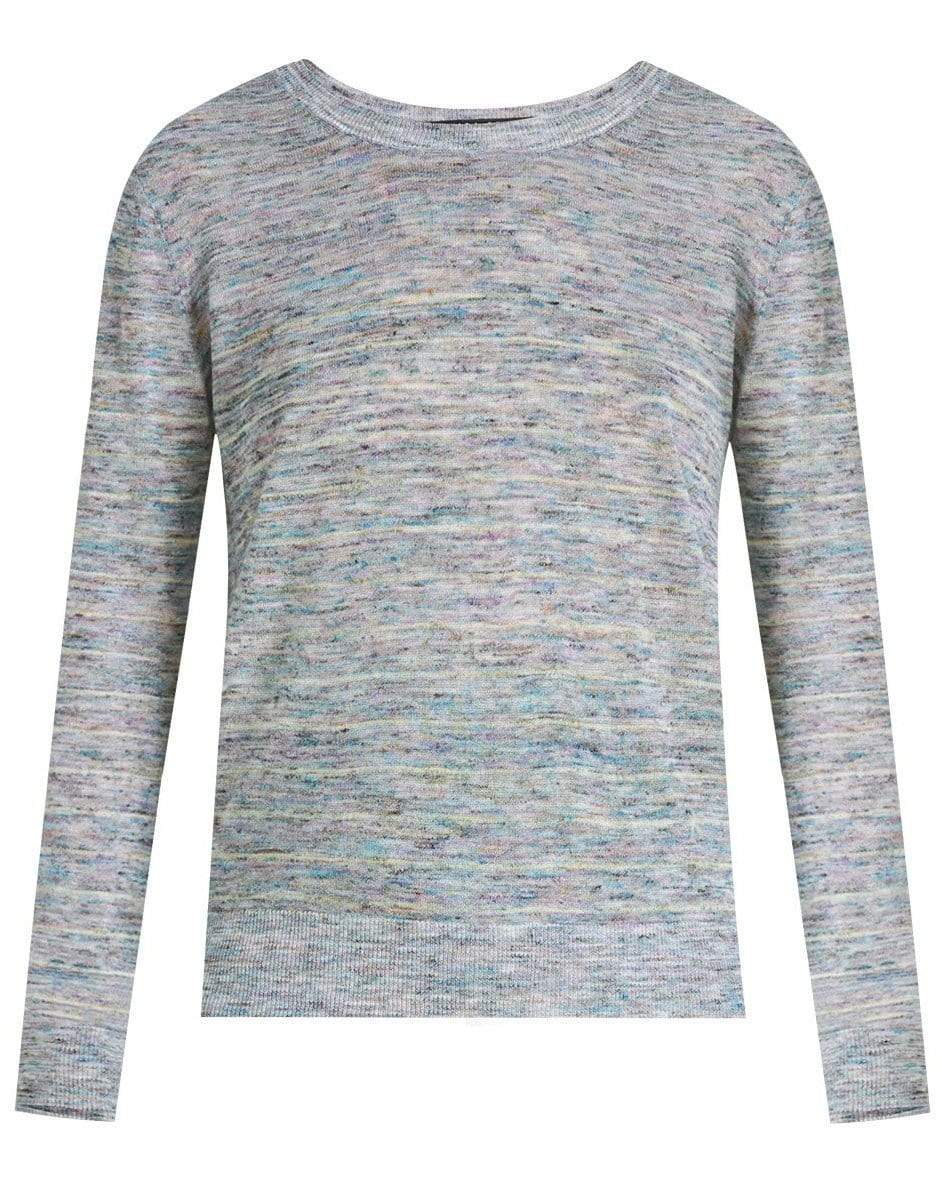 Veronica Beard Linens BLUE HENDERSON SPACE-DYED PULLOVER