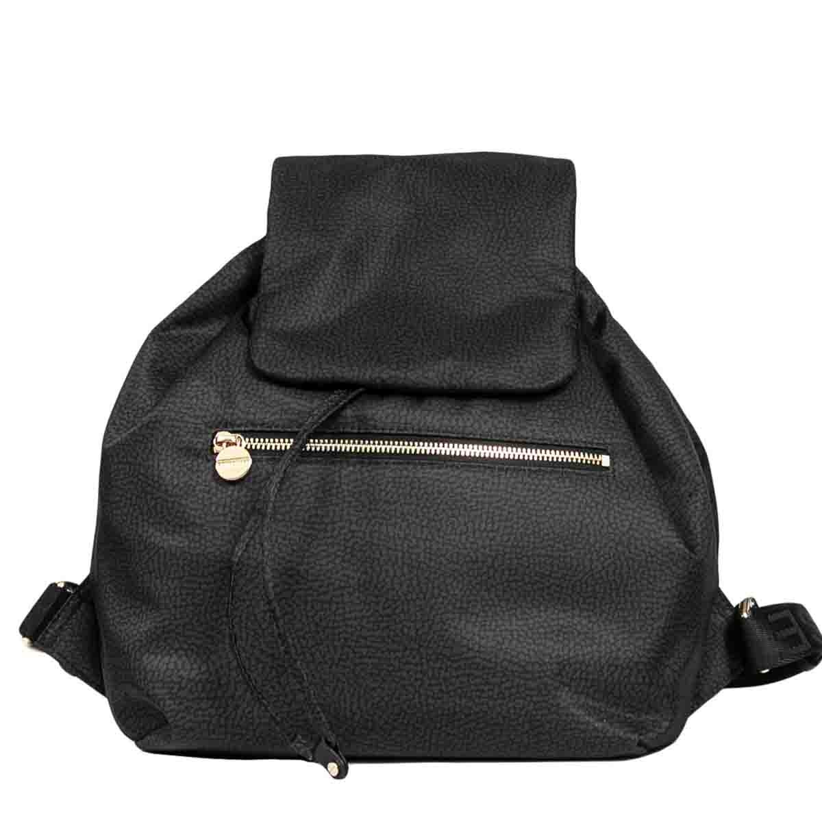 Borbonese BOURBONNAIS MIDDLE BACKPACK IN JET OP