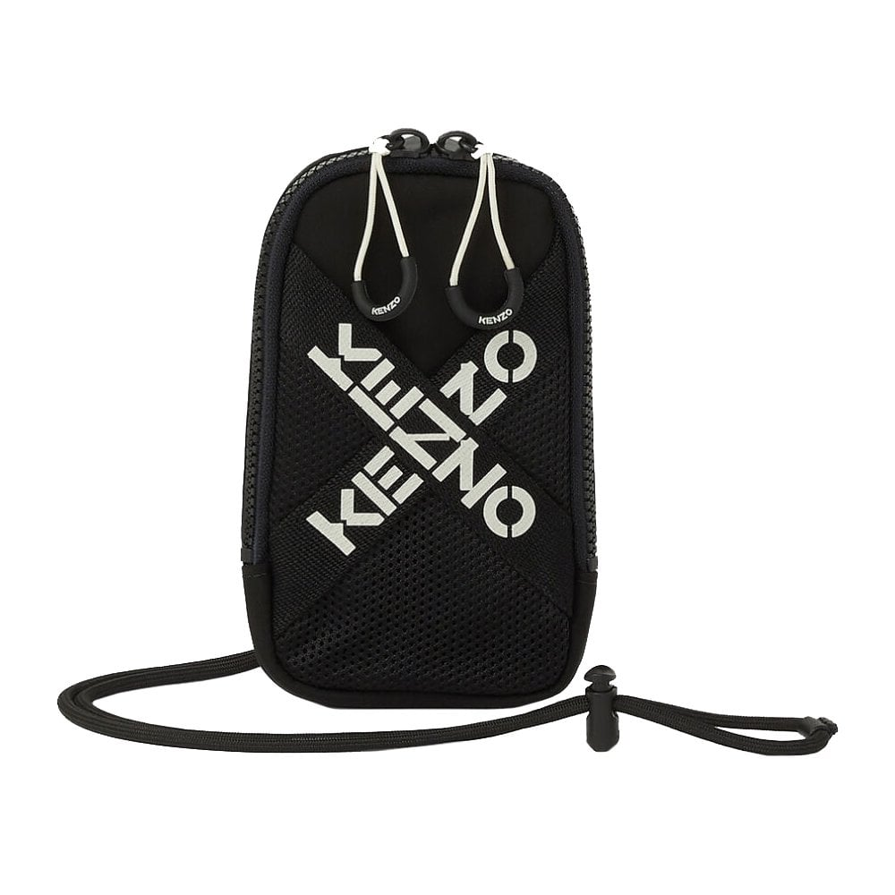 Kenzo X CROSSBODY PHONE HOLDER COLOUR: BLACK