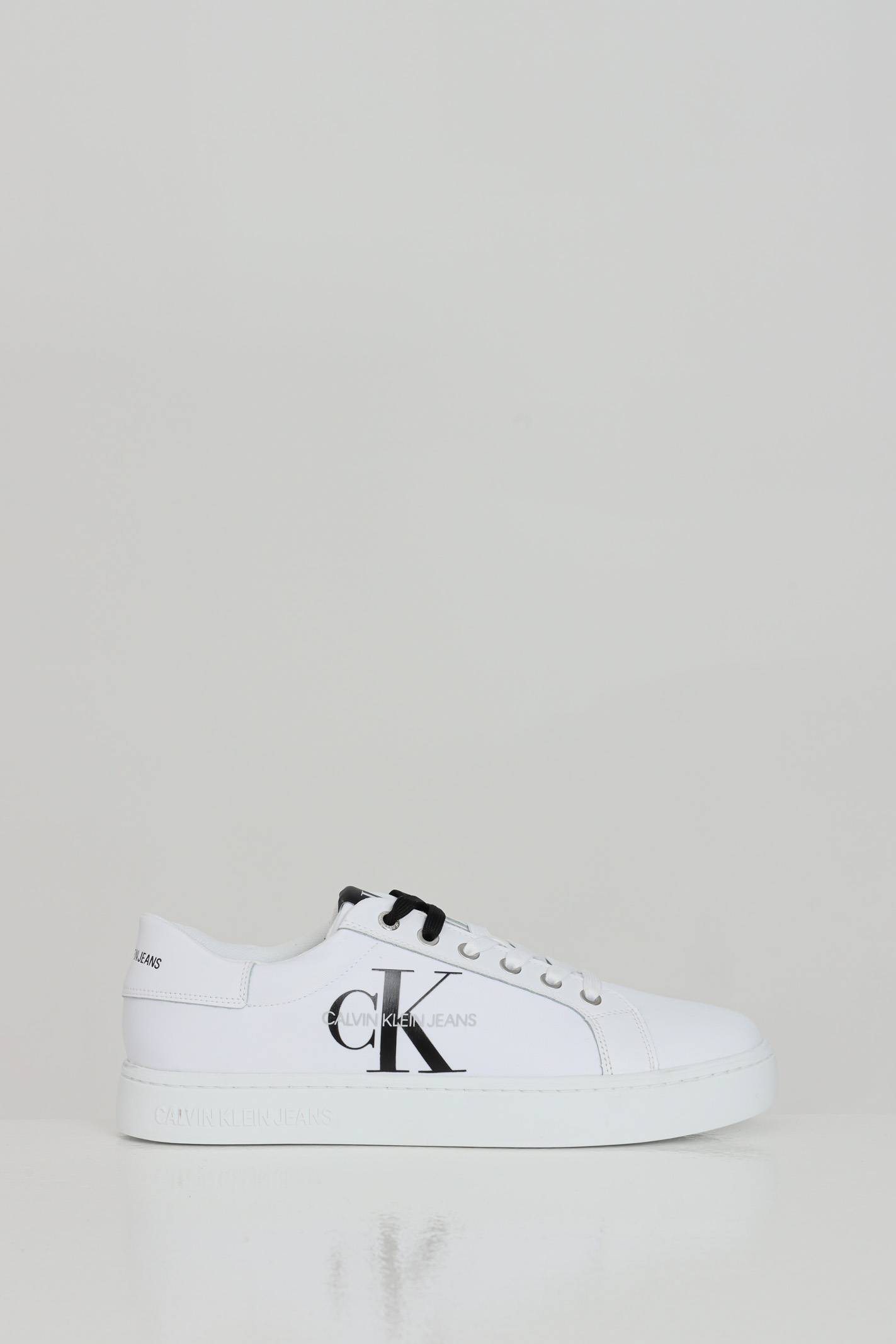 Calvin Klein SNEAKERS WHITE LACEUP BDS